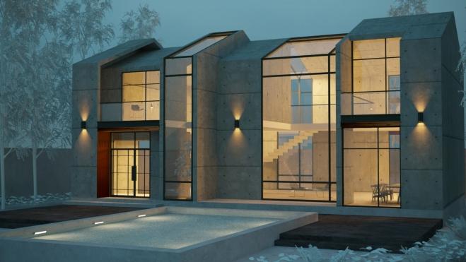 ویلا مدرن مینیمال طراحی معماری